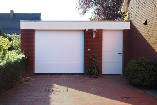 neues Garagen-Sectionaltor, nachher